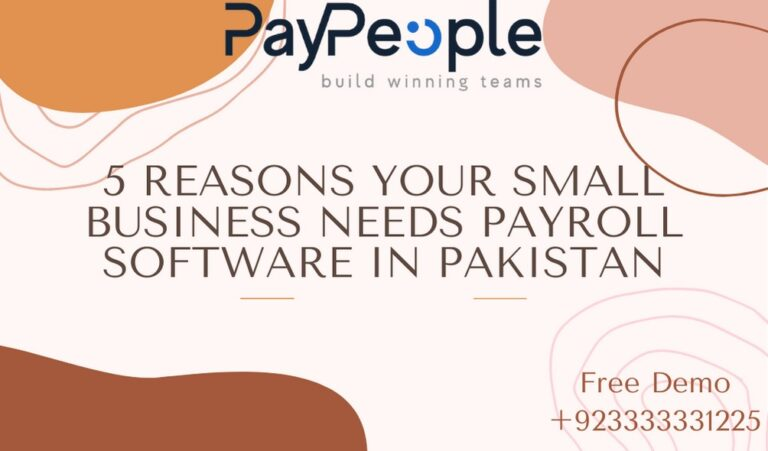 5 Reasons Your Small Business Needs Payroll Software in Pakistan